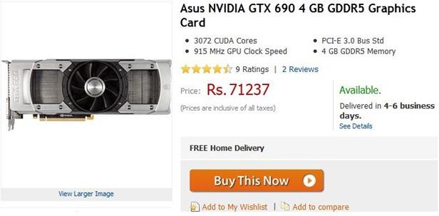 gtx 690 price in india