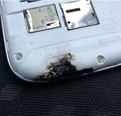 burnt galaxy s3